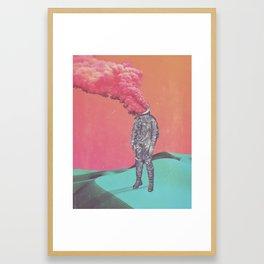 6 tabs Framed Art Print