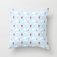 Air Balloons in the Sky Throw Pillow