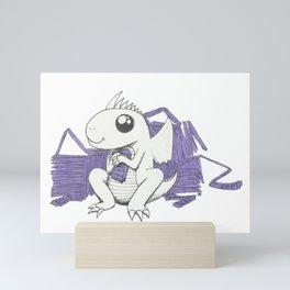 Baby Dragon Hoards Carnival Tickets Mini Art Print