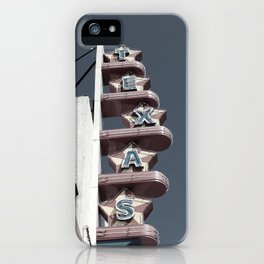 Texas Theater sign iPhone Case