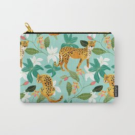 Cheetah Jungle #illustration #pattern Carry-All Pouch