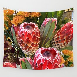 Protea Flowers Wall Tapestry