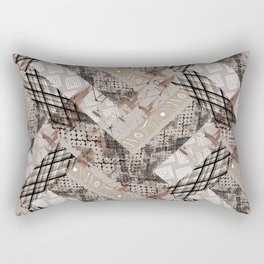 Combined ethnic pattern. Patchwork.3 Rectangular Pillow