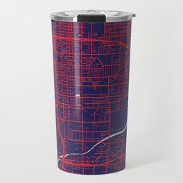 San Bernardino, CA, USA, Blue, White, City, Map Travel Mug