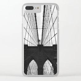 Brooklyn Bridge Clear iPhone Case