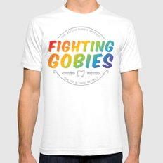 Fighting Gobies Nationals - Rainbow White MEDIUM Mens Fitted Tee