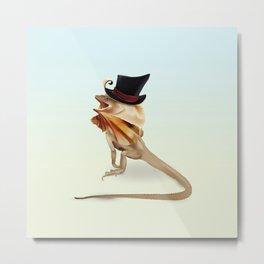 Mr Frilly Lizard Metal Print