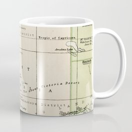 Vintage Map of the West Of Australia Coffee Mug