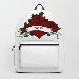 DAD HEART TATTOO Backpack