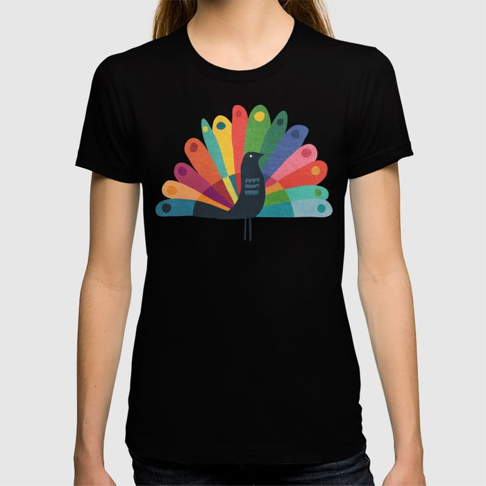 Whimsical Peacok T-shirt
