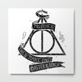 Harry Poter and the Deathly Hallows Metal Print