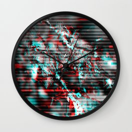 Glitch background. Computer screen error Wall Clock