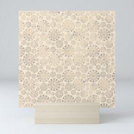 Ceramic tile pattern - Beige shabby - old Mini Art Print