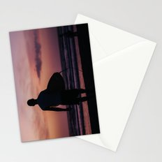 Surfing at Dawn in Cocoa FL USA Stationery Cards