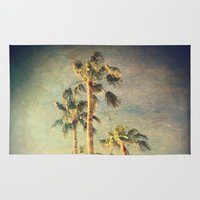 palms Area & Throw Rugs featuring palms by Sylvia Cook Photography