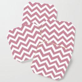 Puce - violet color - Zigzag Chevron Pattern Coaster