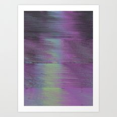 Glitch Haze #1 Art Print
