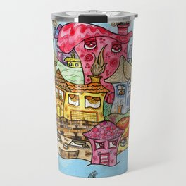 Suburbia USA Watercolor Travel Mug