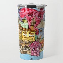 Suburbia USA Watercolor Travel Mug