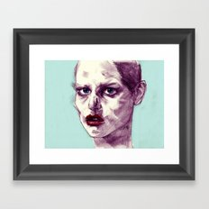 Scary Dirty Face with Red Lips Framed Art Print
