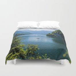 Germany, Malerblick, Koenigssee Lake III- Mountain Forest Europe Duvet Cover