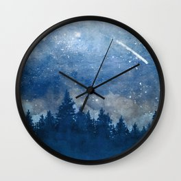 Icy Forest & Sky Wall Clock