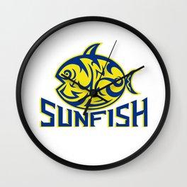 Ocean Sunfish Tribal Art Wall Clock