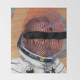 Spaceman No:2 Throw Blanket