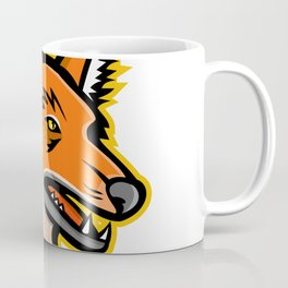 Maned Wolf Mascot Coffee Mug