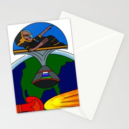 Mayan Astronauts Stationery Cards