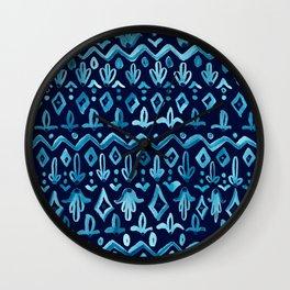 Mya Watercolor - Blue Wall Clock