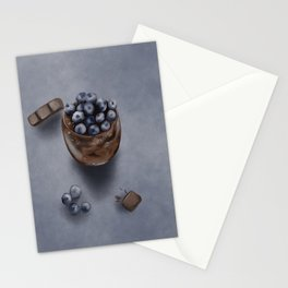 Delicious Blueberry Chocolate Mousse Cake Stationery Cards