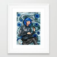 coraline Framed Art Prints featuring Coraline by Jazmine Phillips