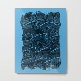 Once Upon the Sea Metal Print