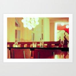 bar chair Art Print
