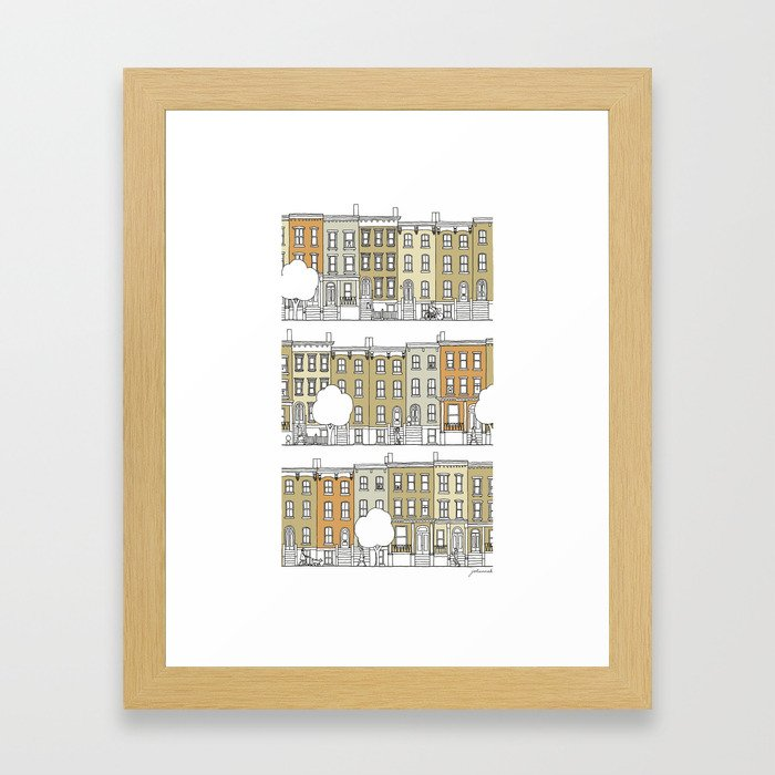Brooklyn (color) Framed Art Print