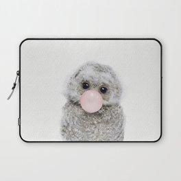 Bubble Gum Baby Owl Laptop Sleeve