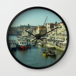 Porto Waterfront Wall Clock