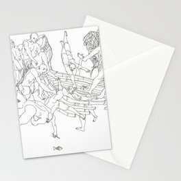 The fishermen Stationery Cards