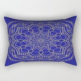 Mandala - blue and gold 1 Rectangular Pillow