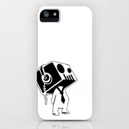 Boxed Skull, Named Ick - Business and Pleasure iPhone Case