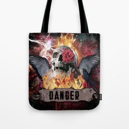 DANGER ROCK SKULL Tote Bag