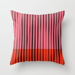 Bright Stripes Throw Pillow