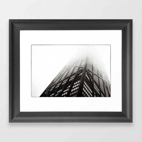 Chicago Hancock Tower Framed Art Print