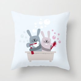 Conejitos / Bunnies Throw Pillow
