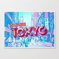 tokyo Canvas Prints featuring Tokyo by nicole martinez