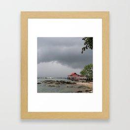 STORM OVER THE HORIZON Framed Art Print