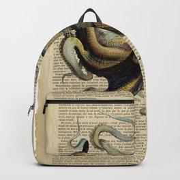 Book Art Octopus Color Backpack