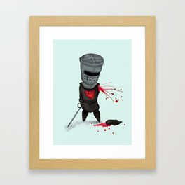The Black Knight Framed Art Print
