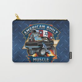 American Built Muscle - Classic Muscle Car Cartoon Illustration Carry-All Pouch